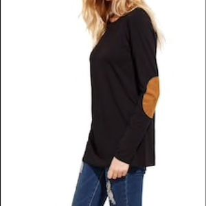 Soft Long sleeve shirt with elbow patch